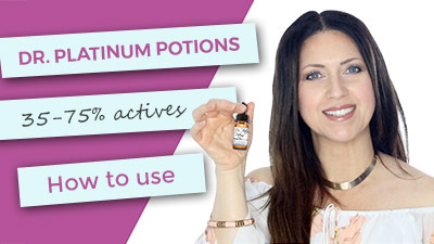 Dr. Platinum Potions | Super Intense Concentrated Actives