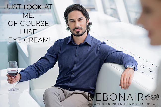 Debonair for Men | Eye Rehab 2x per day for reduced swelling and increased micro-circulation.
