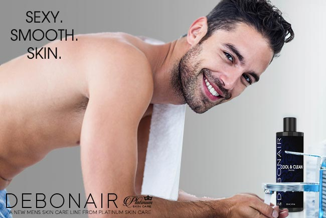 Debonair for Men | Cool & Clean glycolic wash for sexy, smooth skin.