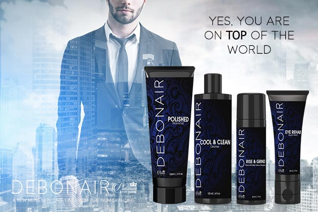 Debonair for Men | Skin Care for men Deluxe Skin Set by Platinum Skin Care