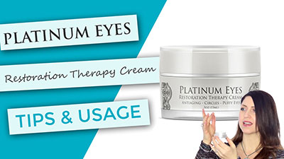 Platinum Eyes Restoration Therapy | Tips and Usage
